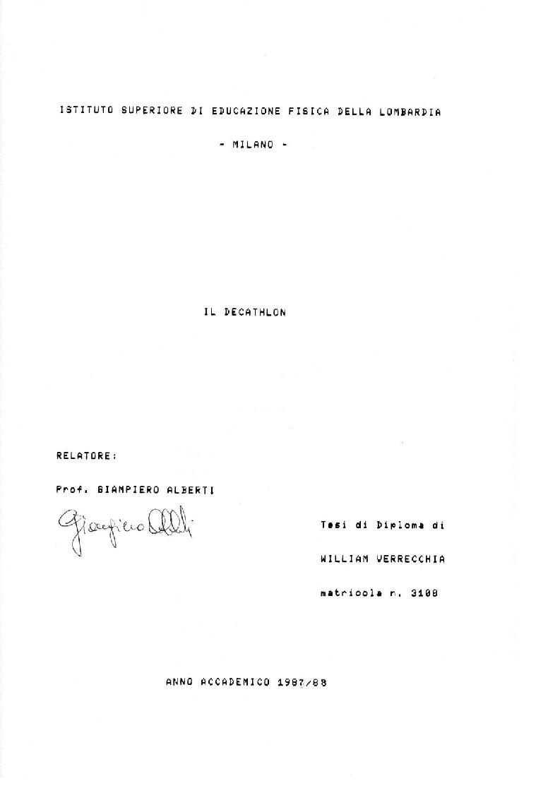 Anteprima della tesi: Il Decathlon, Pagina 1