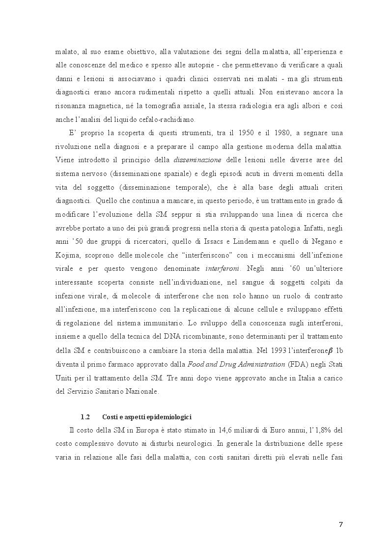 Anteprima della tesi: Disturbi neuropsichiatrici e cognitivi nella sclerosi multipla, Pagina 5