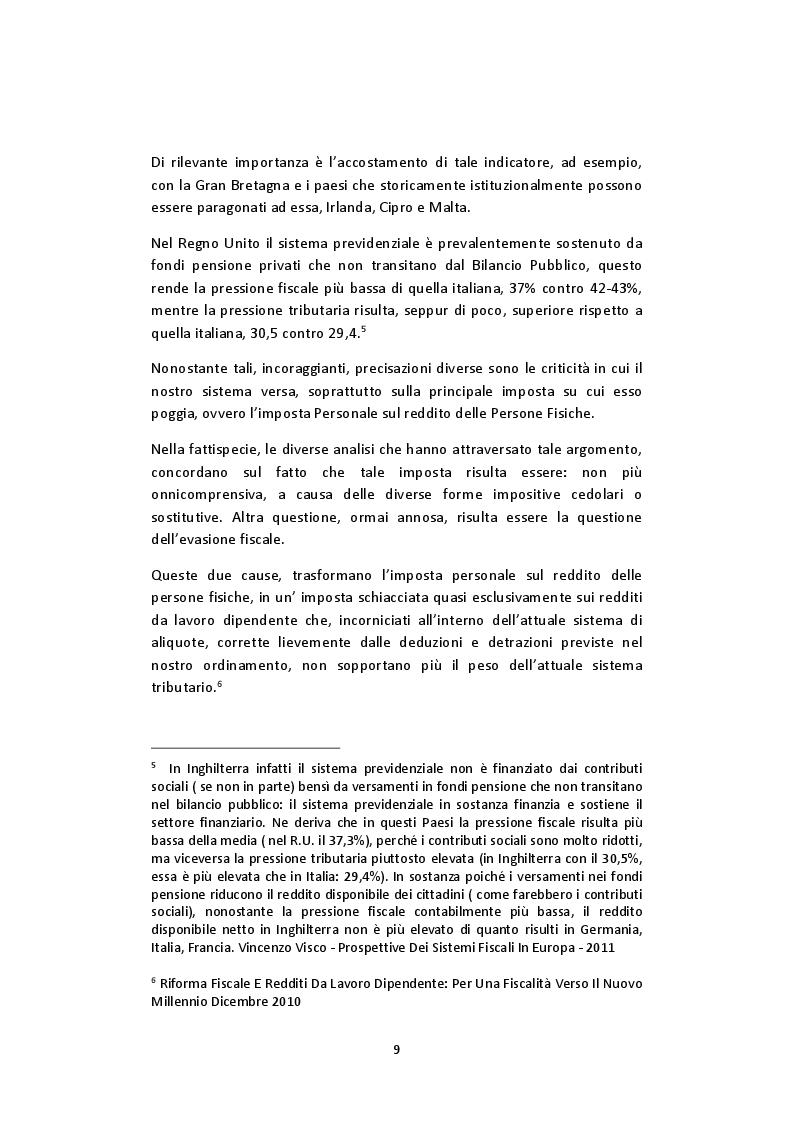 Anteprima della tesi: L'imposta personale sul reddito nel contesto italiano: Profili Teorici Evoluzione Storica e Proposte di Modifica, Pagina 5
