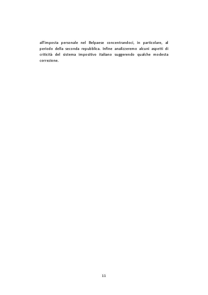 Anteprima della tesi: L'imposta personale sul reddito nel contesto italiano: Profili Teorici Evoluzione Storica e Proposte di Modifica, Pagina 7