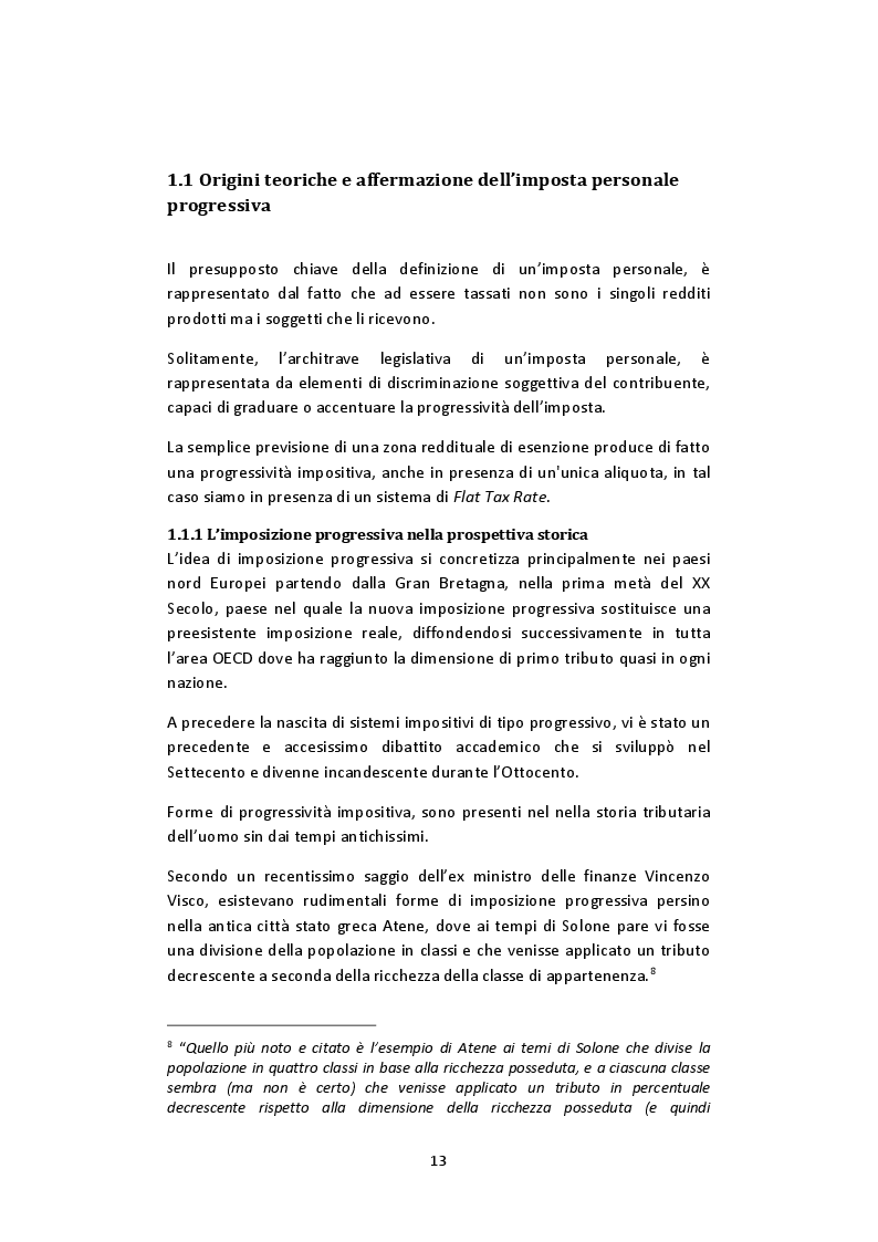 Anteprima della tesi: L'imposta personale sul reddito nel contesto italiano: Profili Teorici Evoluzione Storica e Proposte di Modifica, Pagina 9