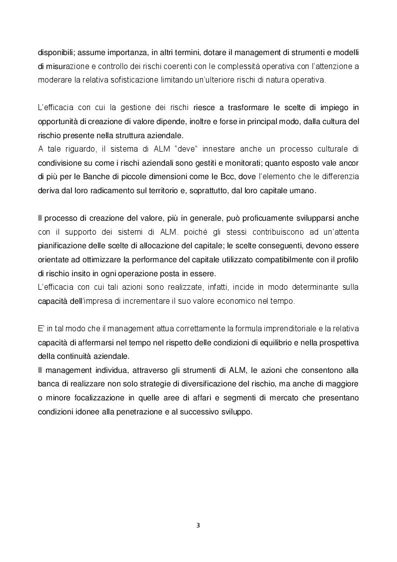 Anteprima della tesi: ALM: tecniche di gestione dell'attivo e del passivo nelle banche. Evoluzione teorica ed applicazioni pratiche nella gestione e misurazione dei rischi., Pagina 3