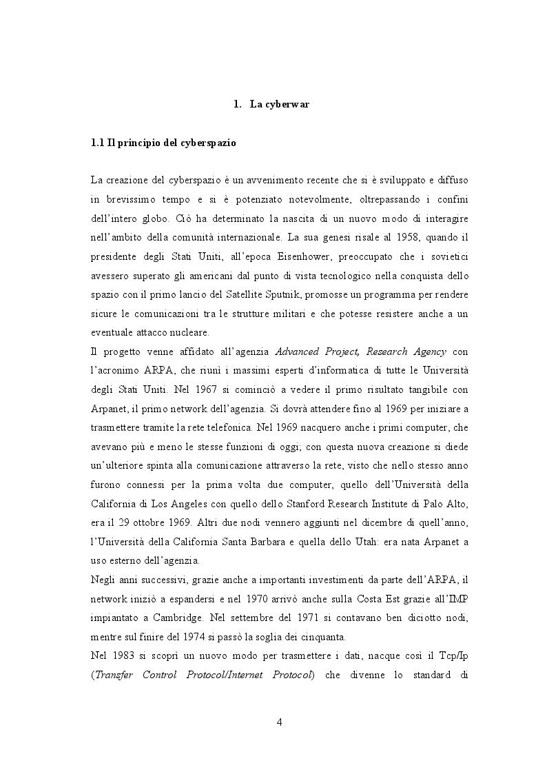 Anteprima della tesi: Cyberwar: l'instabilità nelle relazione internazionali, Pagina 3