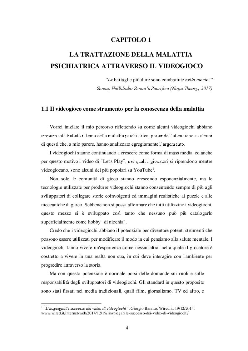 Anteprima della tesi: Videogiochi e psicologia: come le esperienze interattive contribuiscono alla conoscenza ed alla cura delle malattie mentali, Pagina 5