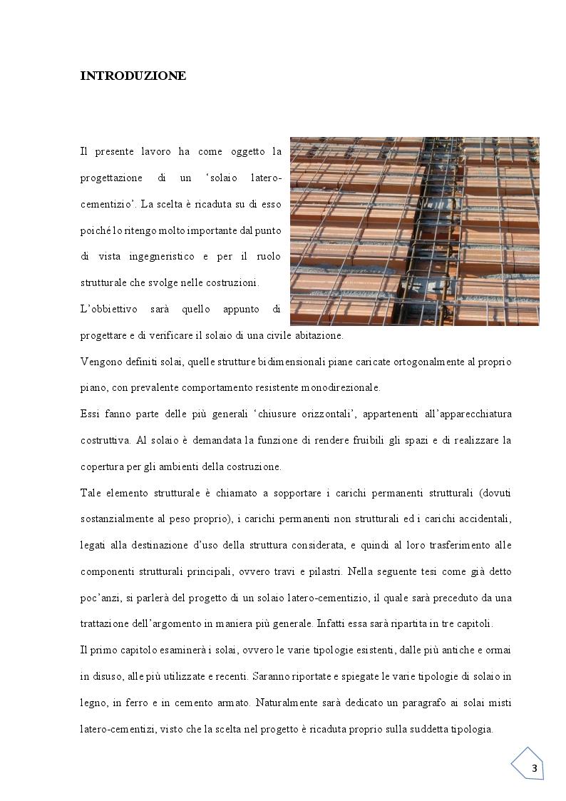 Anteprima della tesi: Progetto si un solaio  Latero-Cementizio, Pagina 2