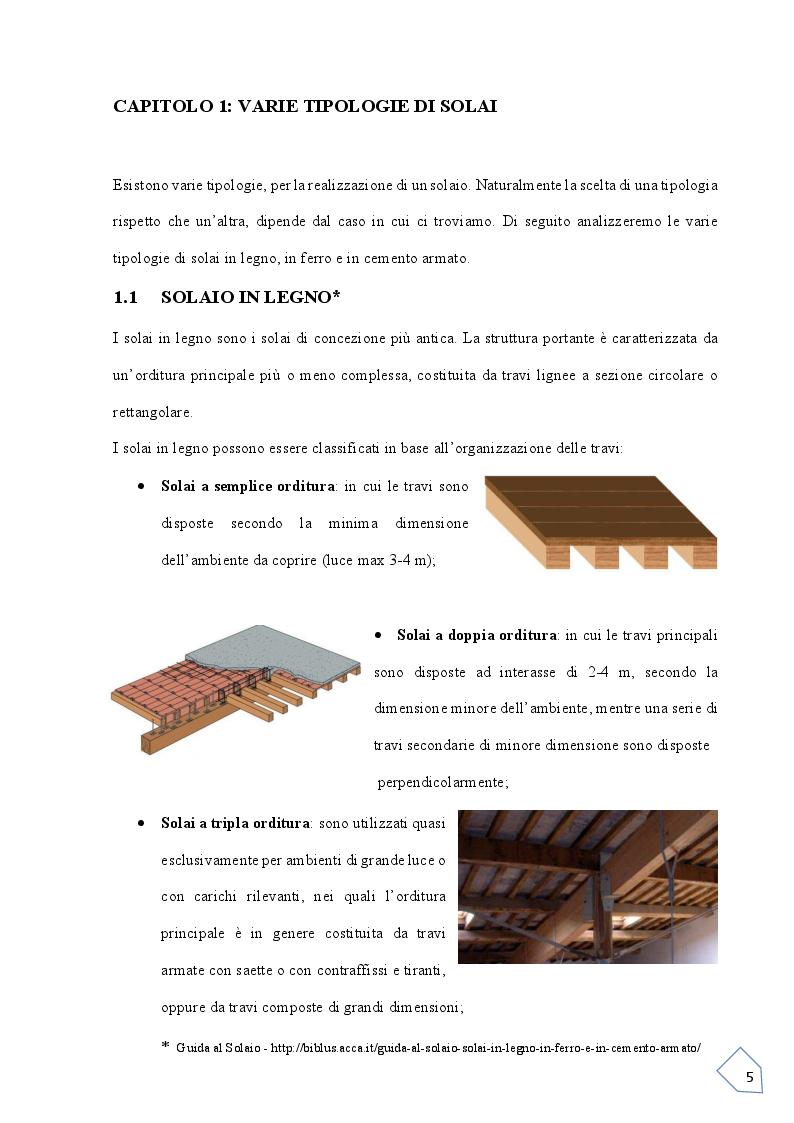Anteprima della tesi: Progetto si un solaio  Latero-Cementizio, Pagina 4