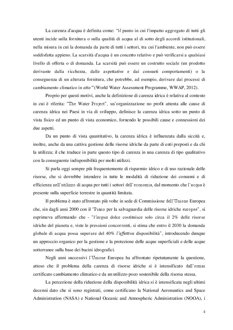 Anteprima della tesi: Carenza Idrica e Siccità: La Percezione Degli Agricoltori, Pagina 3