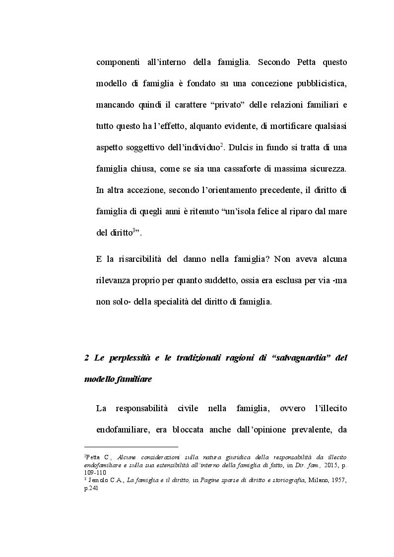 Anteprima della tesi: L'illecito endofamiliare, tra acquisizioni giurisprudenziali e criticità del sistema giuridico, Pagina 4