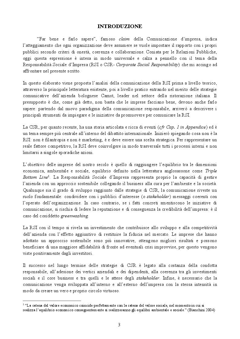 """Anteprima della tesi: La Responsabilità Sociale d'Impresa: """"far bene e farlo sapere"""", Pagina 2"""