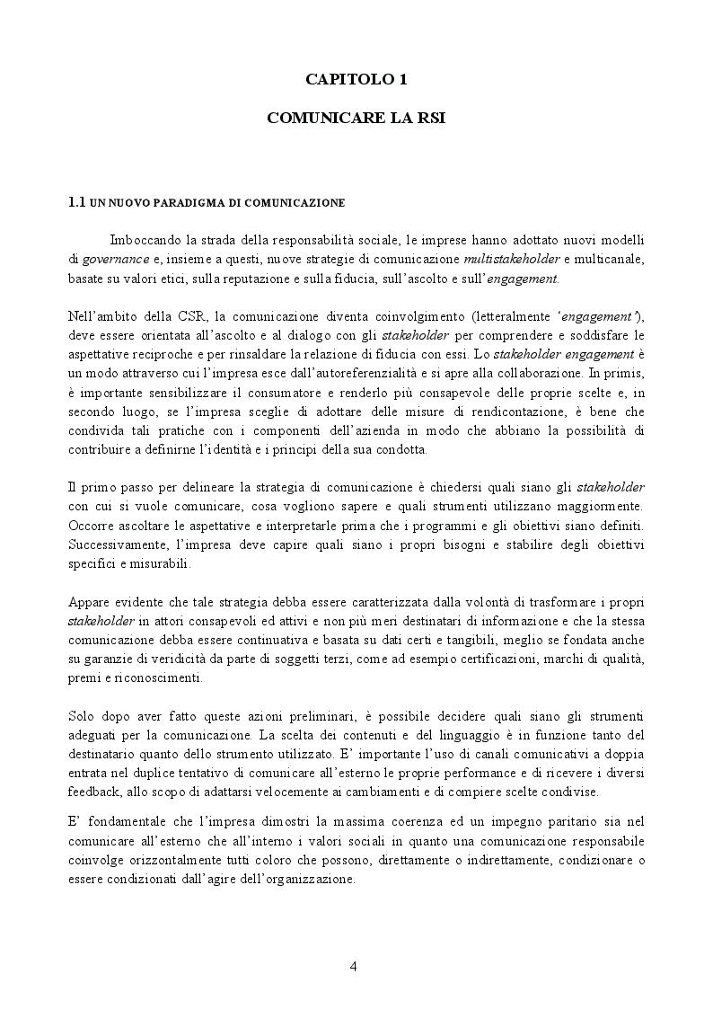 """Anteprima della tesi: La Responsabilità Sociale d'Impresa: """"far bene e farlo sapere"""", Pagina 3"""