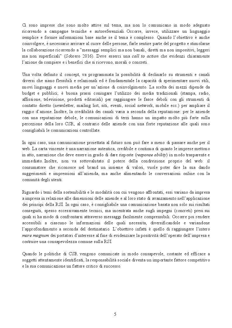 """Anteprima della tesi: La Responsabilità Sociale d'Impresa: """"far bene e farlo sapere"""", Pagina 4"""