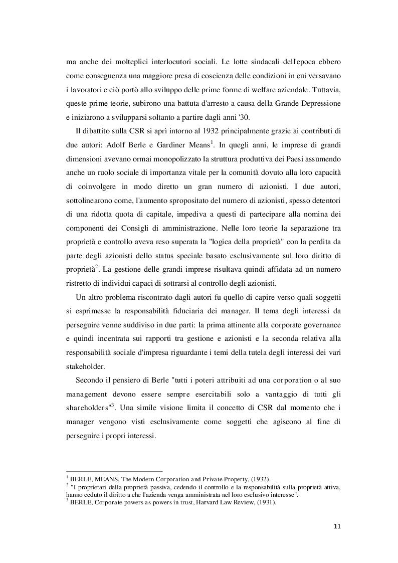 Estratto dalla tesi: Corporate Social Responsibility e teoria economica