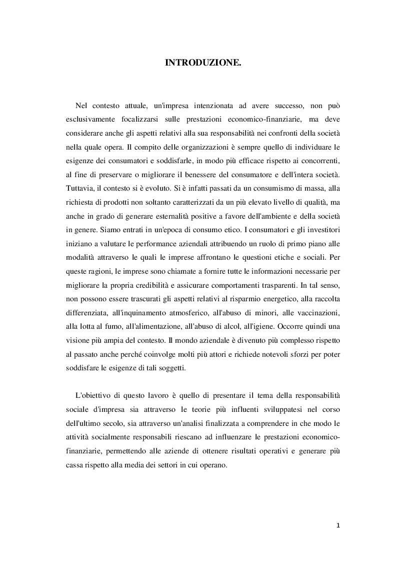 Anteprima della tesi: Corporate Social Responsibility e teoria economica, Pagina 2