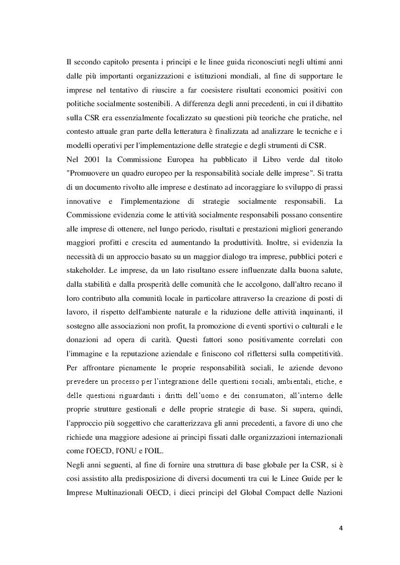 Anteprima della tesi: Corporate Social Responsibility e teoria economica, Pagina 5