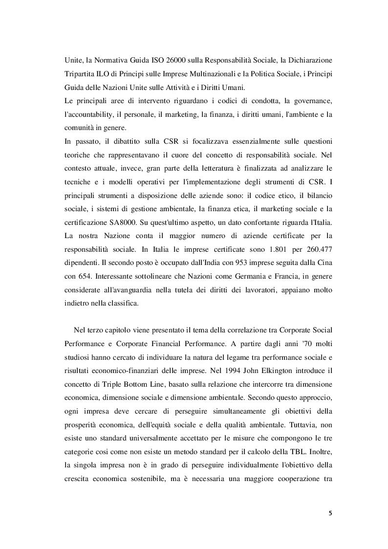 Anteprima della tesi: Corporate Social Responsibility e teoria economica, Pagina 6