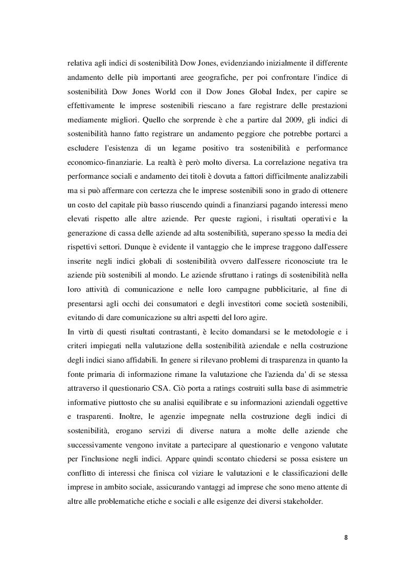 Anteprima della tesi: Corporate Social Responsibility e teoria economica, Pagina 9