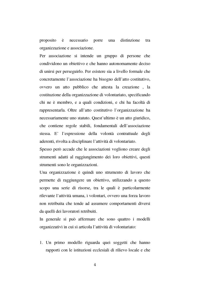 Anteprima della tesi: Il volontariato nel settore del disagio minorile: una ricerca nell'area veneziana, Pagina 11