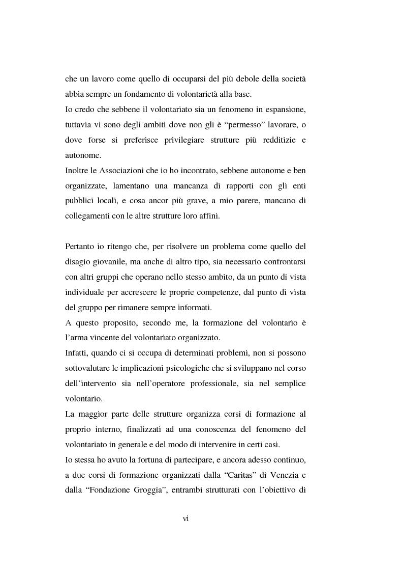 Anteprima della tesi: Il volontariato nel settore del disagio minorile: una ricerca nell'area veneziana, Pagina 4