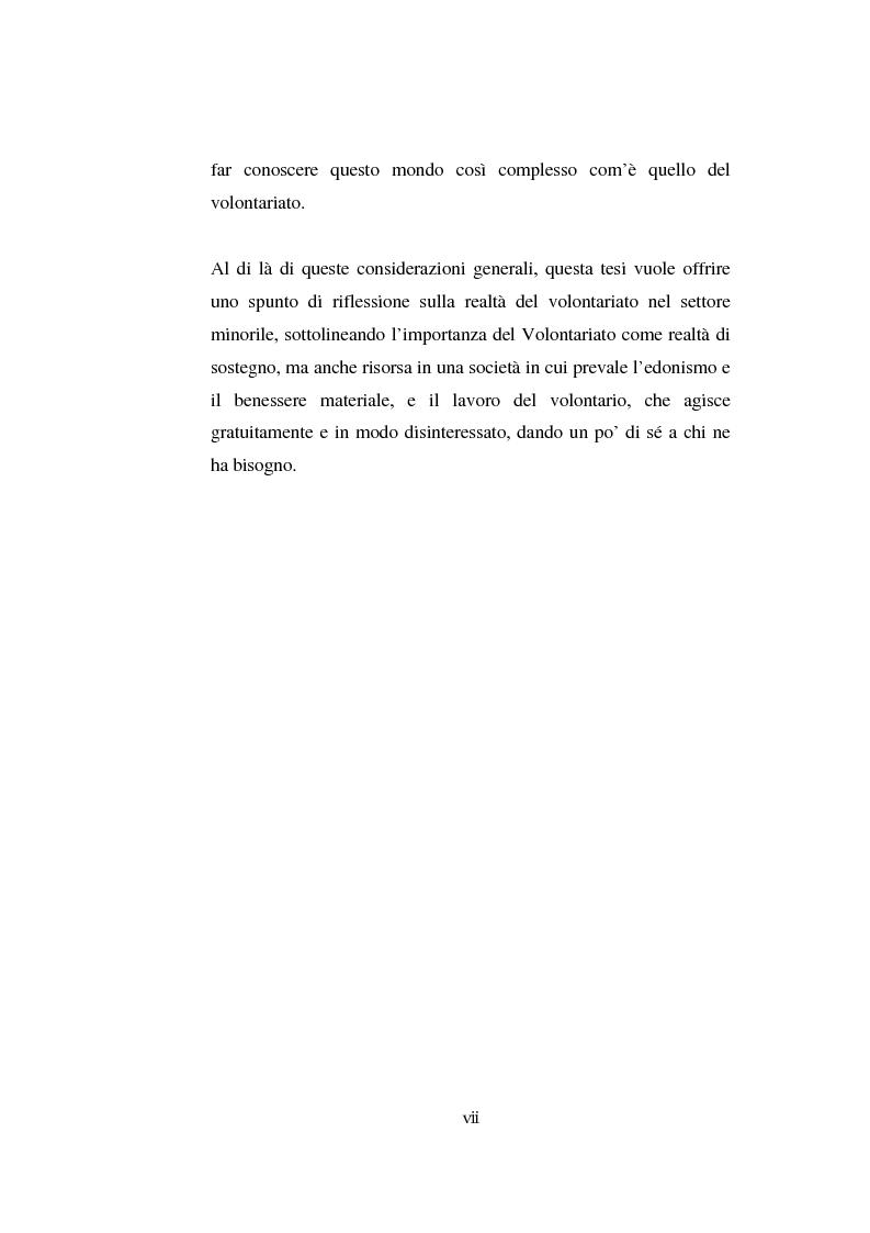 Anteprima della tesi: Il volontariato nel settore del disagio minorile: una ricerca nell'area veneziana, Pagina 5