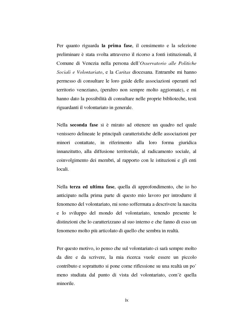 Anteprima della tesi: Il volontariato nel settore del disagio minorile: una ricerca nell'area veneziana, Pagina 7