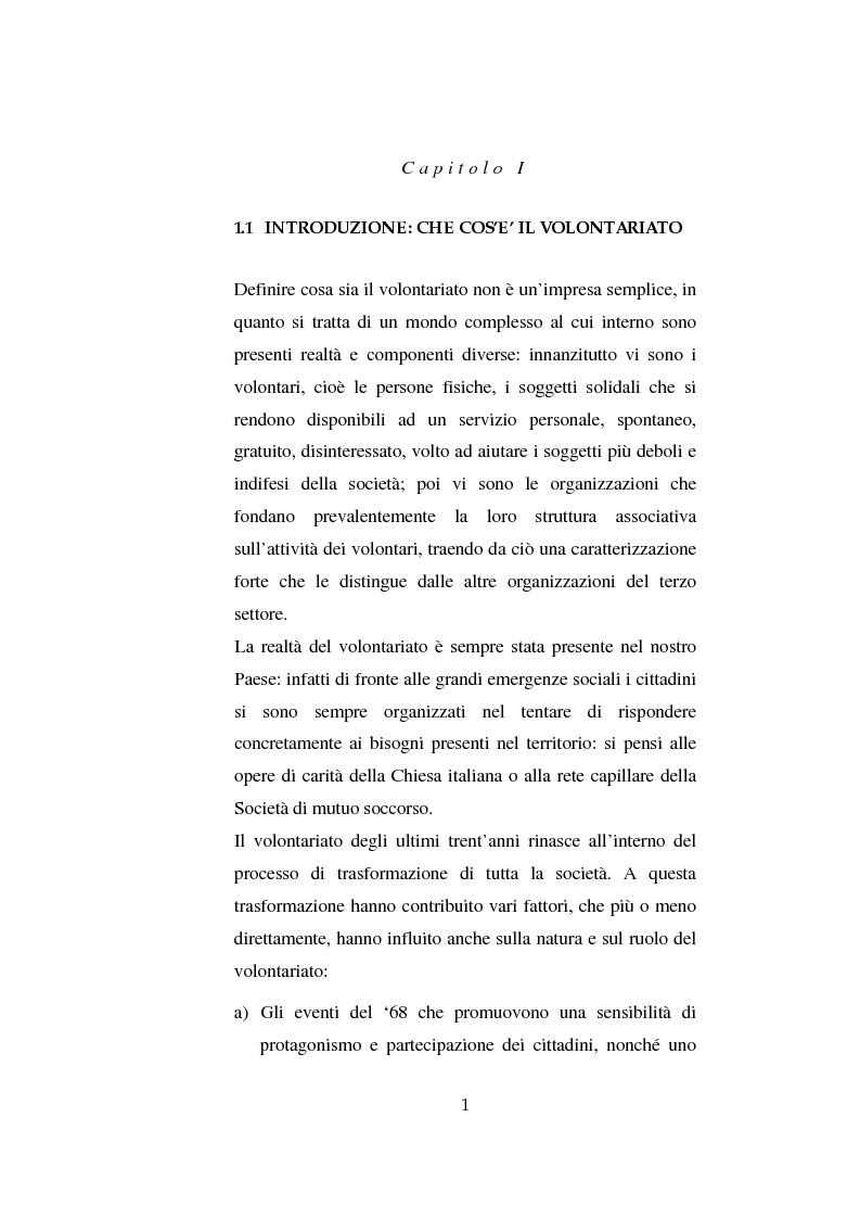 Anteprima della tesi: Il volontariato nel settore del disagio minorile: una ricerca nell'area veneziana, Pagina 8