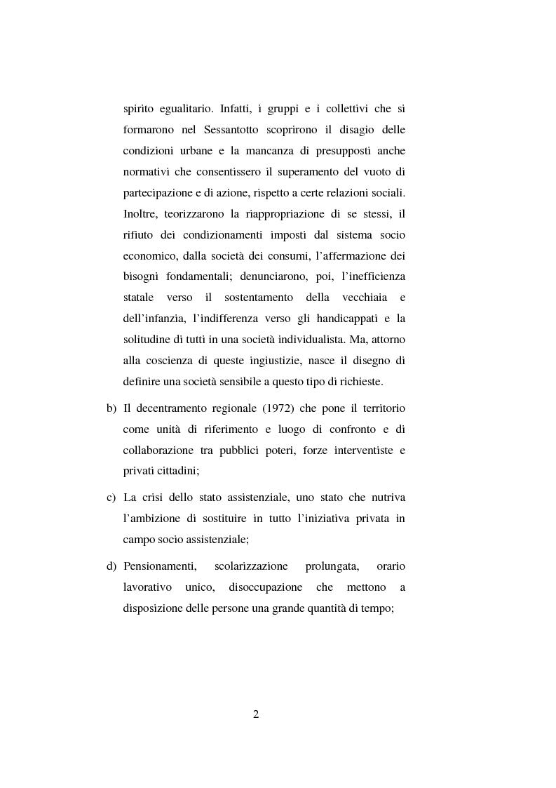 Anteprima della tesi: Il volontariato nel settore del disagio minorile: una ricerca nell'area veneziana, Pagina 9