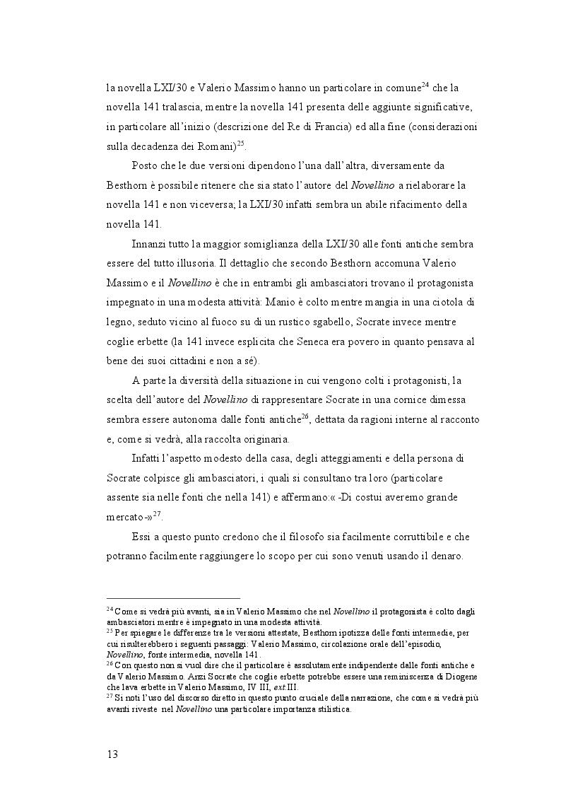 Estratto dalla tesi: Un presunto errore d'archetipo nel testo del Novellino