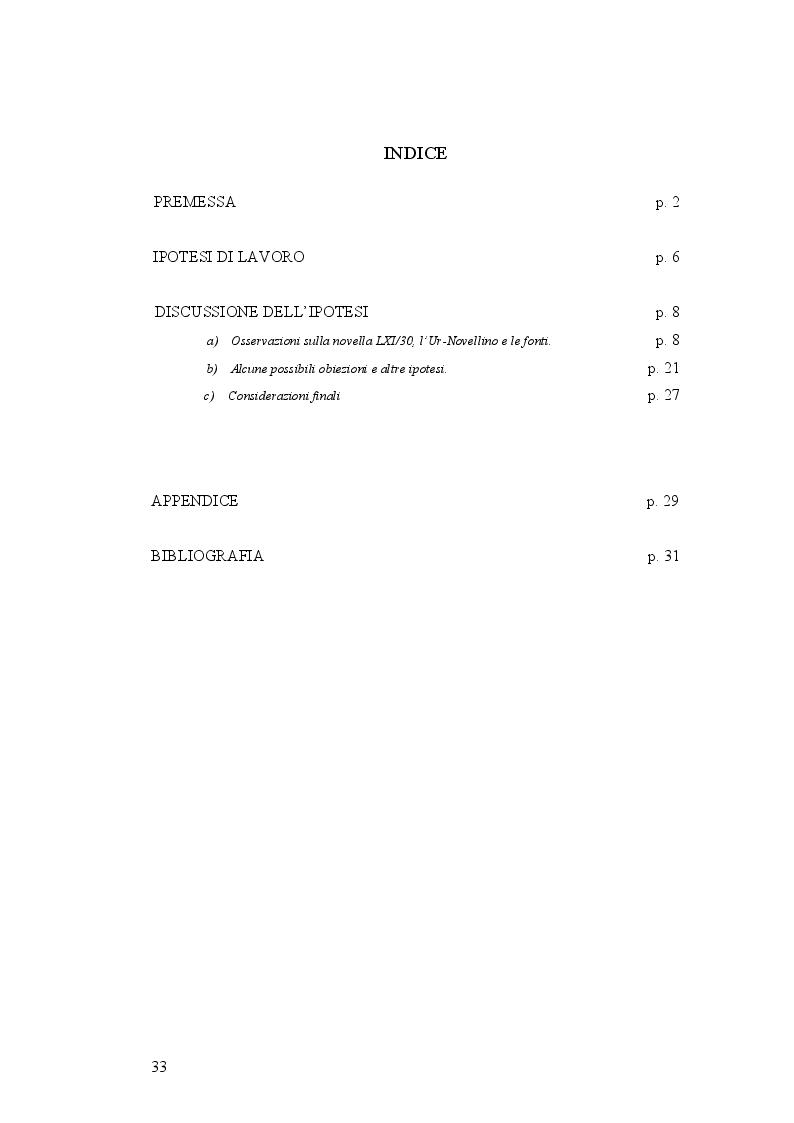 Indice della tesi: Un presunto errore d'archetipo nel testo del Novellino, Pagina 1