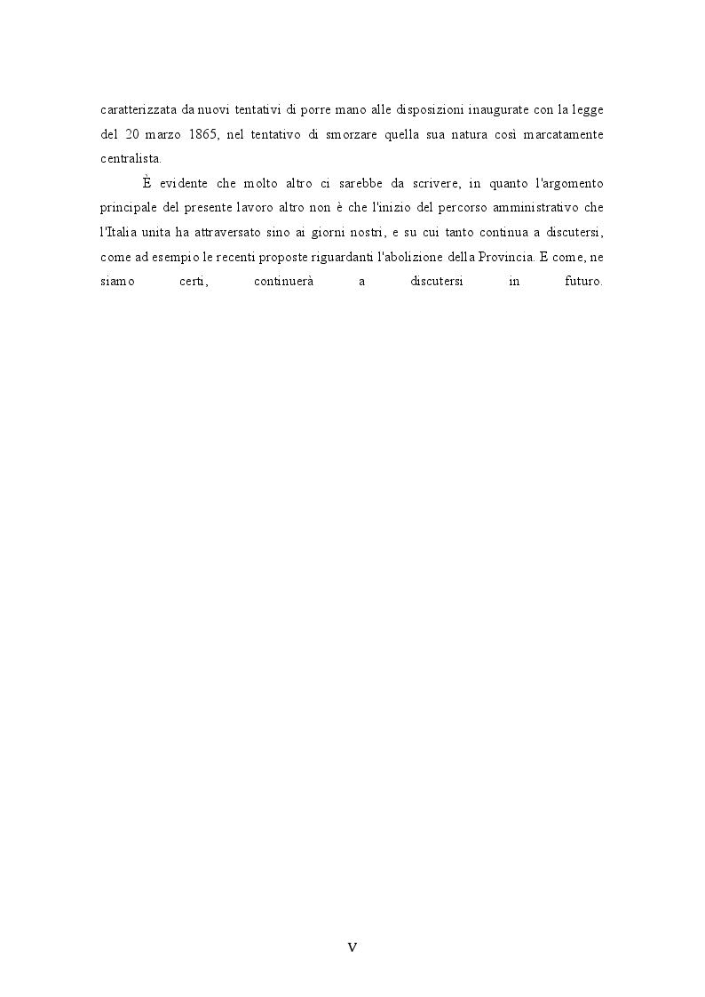 Anteprima della tesi: L'unificazione amministrativa del Regno d'Italia: tra autonomie locali e centralismo, Pagina 6