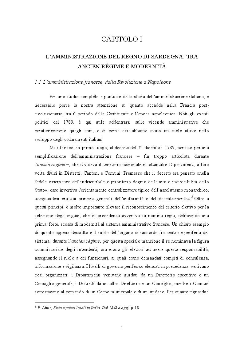 Anteprima della tesi: L'unificazione amministrativa del Regno d'Italia: tra autonomie locali e centralismo, Pagina 7