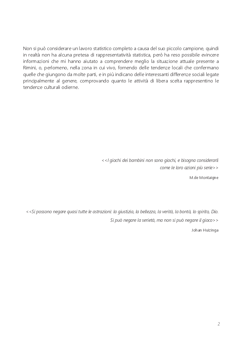 Anteprima della tesi: Il gioco libero dei bambini: tempo perso o educazione all'aperto?, Pagina 3