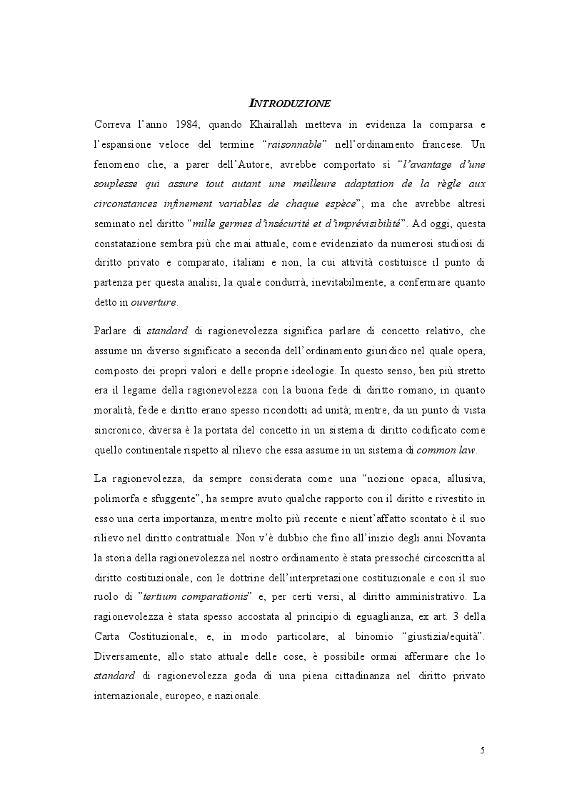 Anteprima della tesi: Lo standard di ragionevolezza, Pagina 2