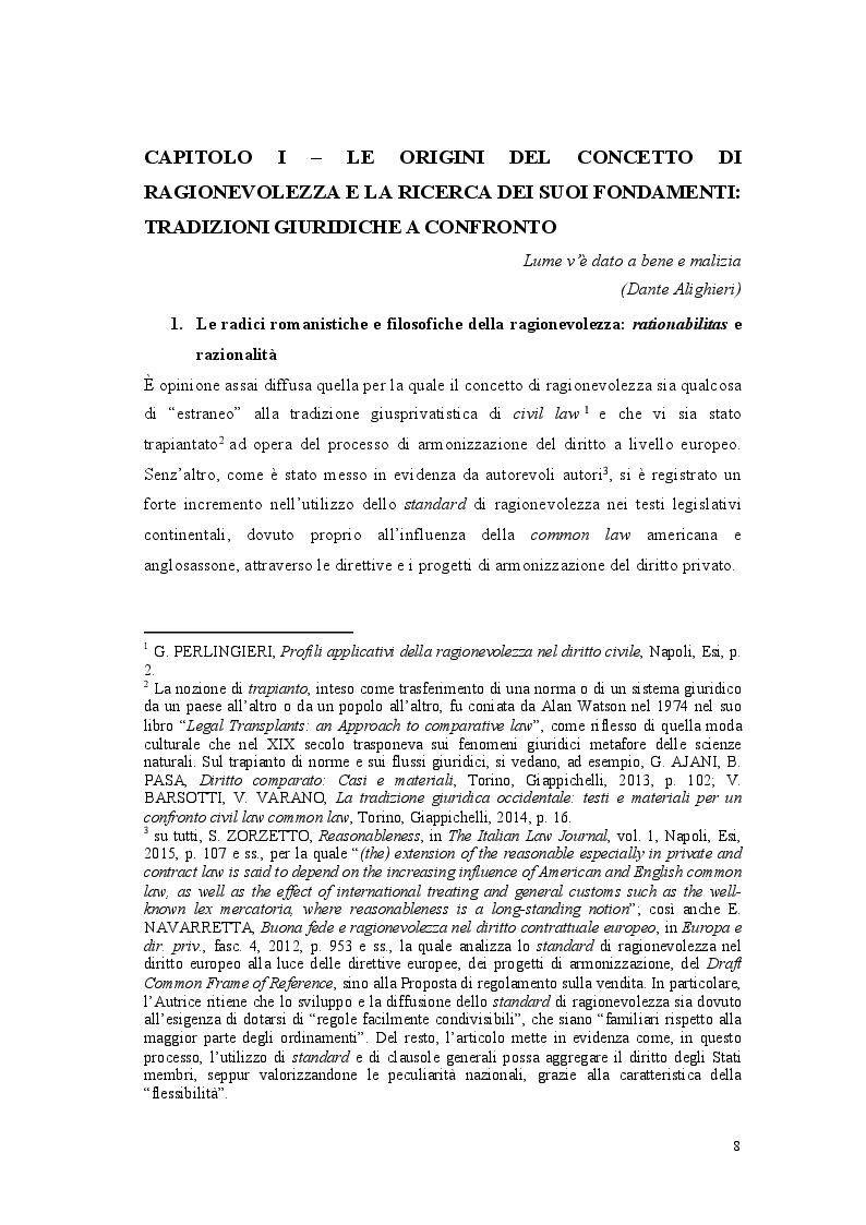 Anteprima della tesi: Lo standard di ragionevolezza, Pagina 5