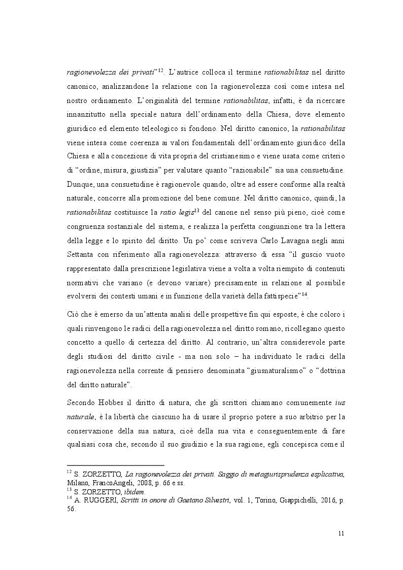 Anteprima della tesi: Lo standard di ragionevolezza, Pagina 8