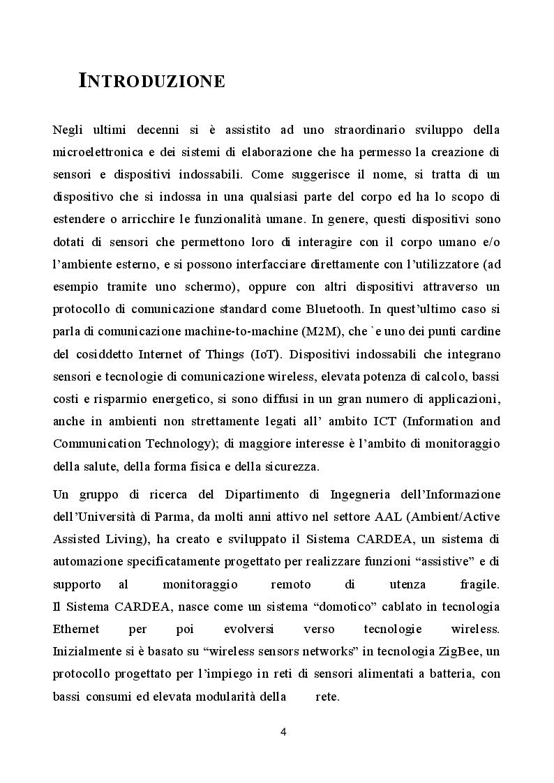 Anteprima della tesi: Valutazione della fattibilità del riconoscimento di attività umana mediante dispositivo indossabile, Pagina 2