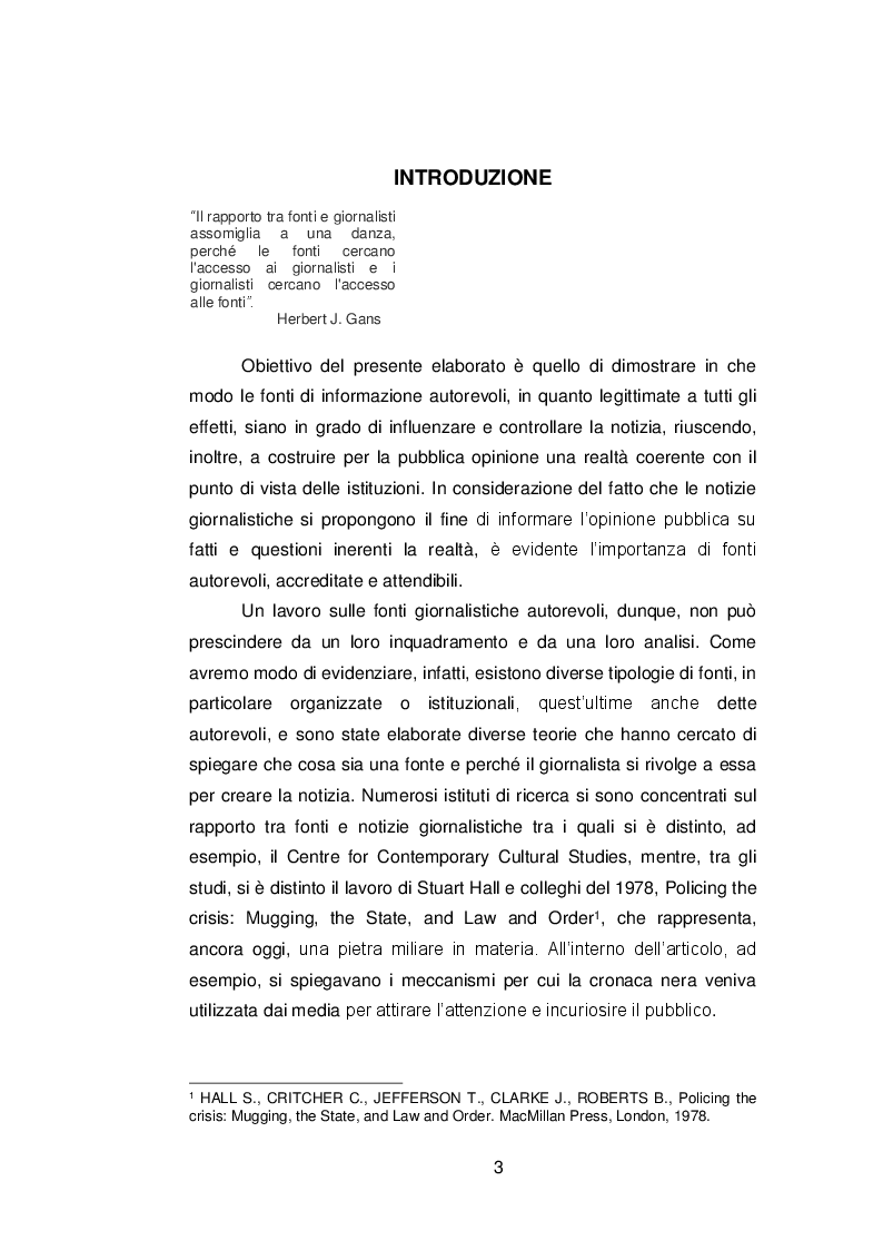 Anteprima della tesi: Il ruolo delle fonti ''autorevoli'' nella selezione della notizia, Pagina 2