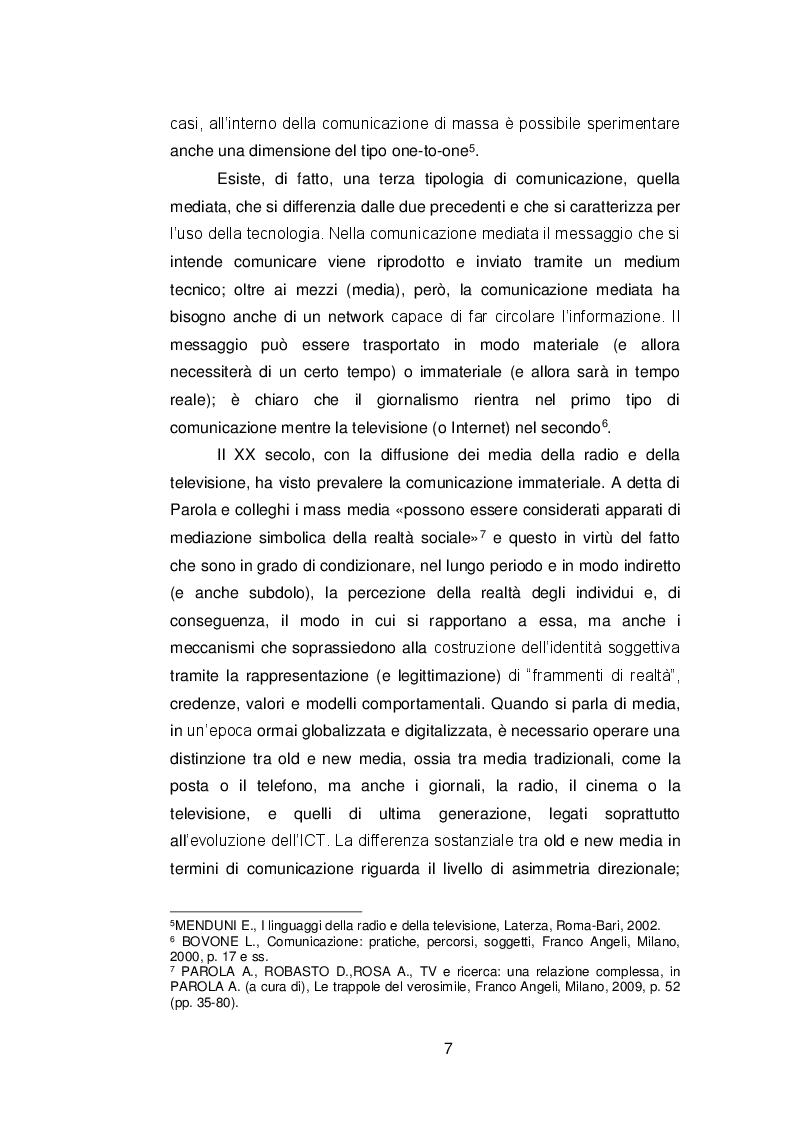 Anteprima della tesi: Il ruolo delle fonti ''autorevoli'' nella selezione della notizia, Pagina 6