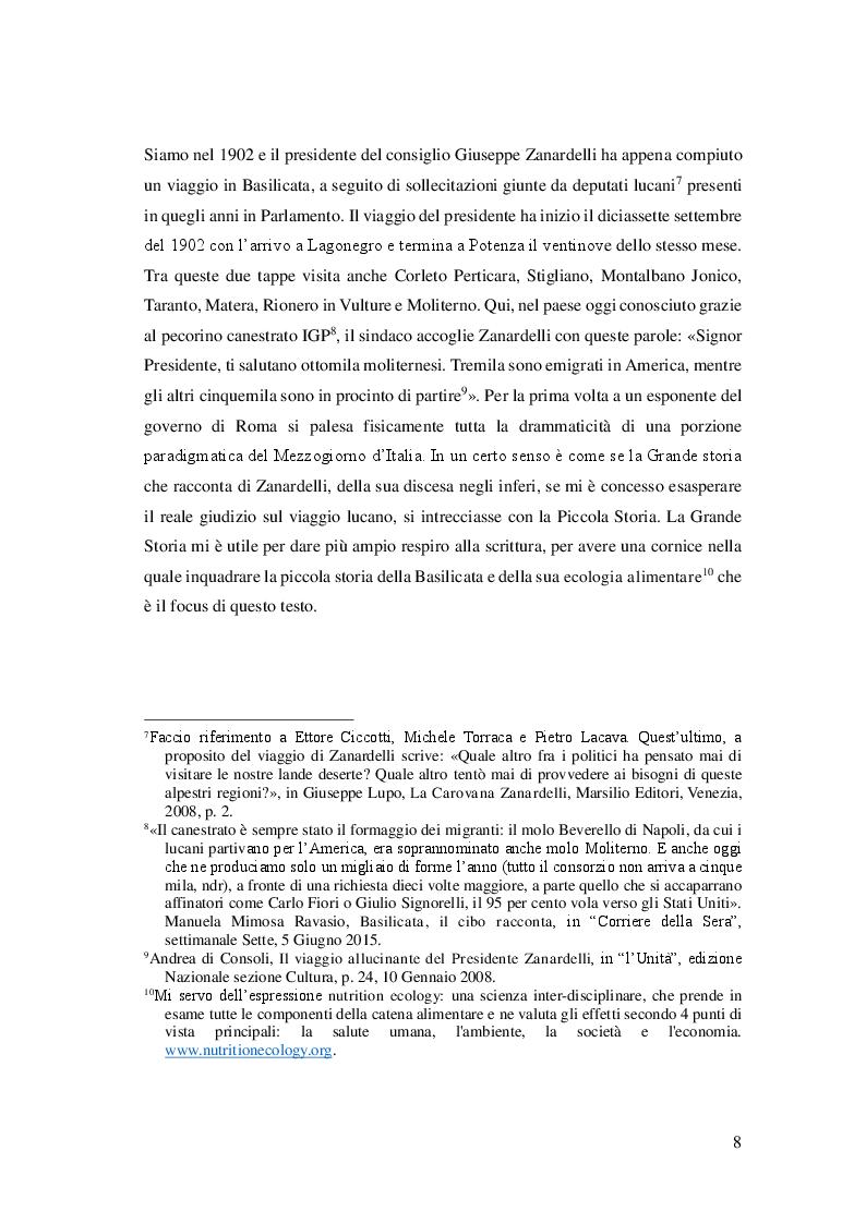 Anteprima della tesi: Cibo, identità e territorio: narrazioni contemporanee sul patrimonio alimentare lucano, Pagina 7