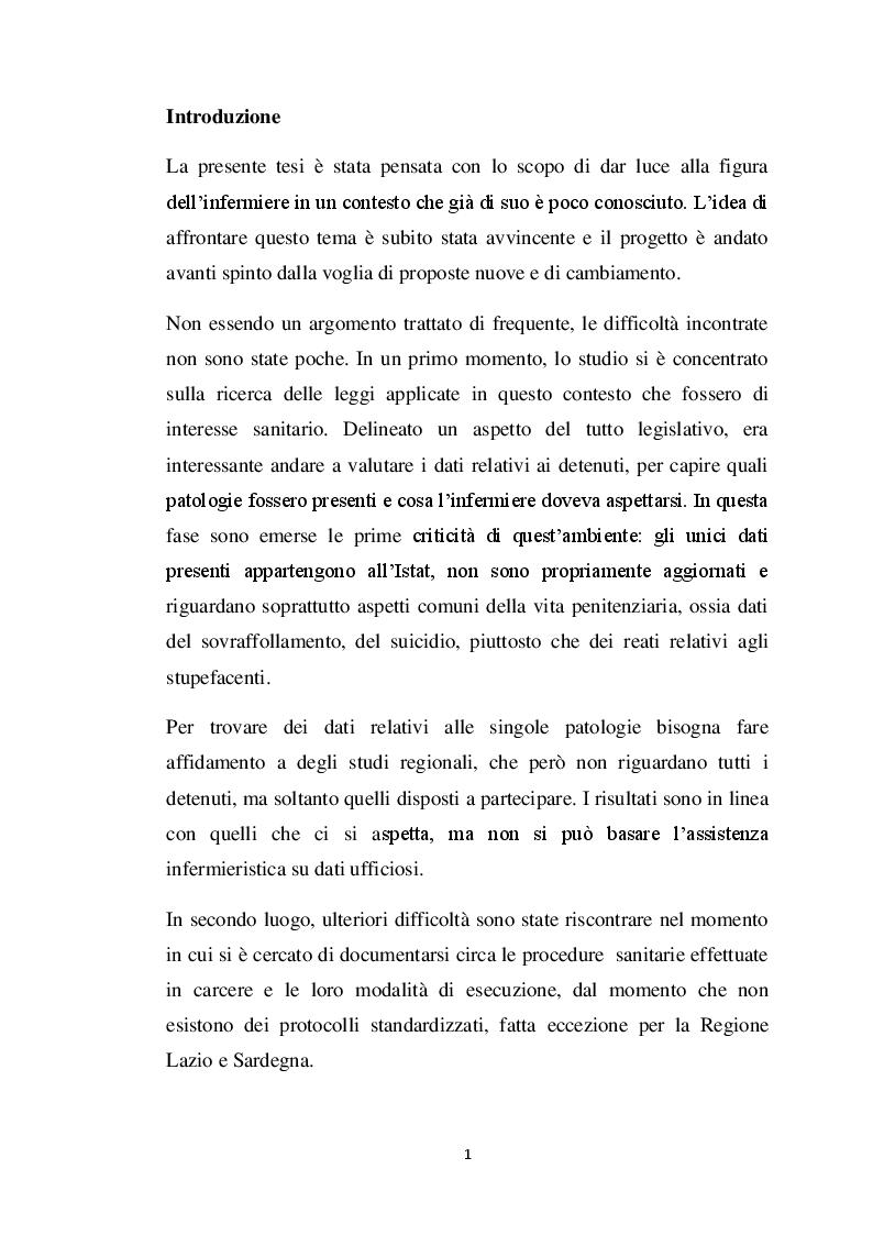 Anteprima della tesi: Uno sguardo oltre le sbarre: l'infermiere e la gestione della tossicodipendenza , Pagina 2