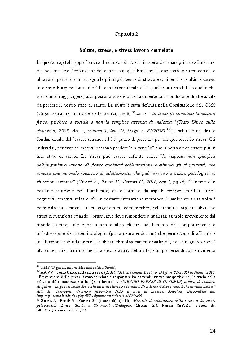 Anteprima della tesi: Lo stress lavoro correlato e rischi psicosociali emergenti, Pagina 2