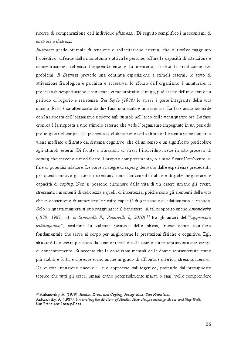 Anteprima della tesi: Lo stress lavoro correlato e rischi psicosociali emergenti, Pagina 4