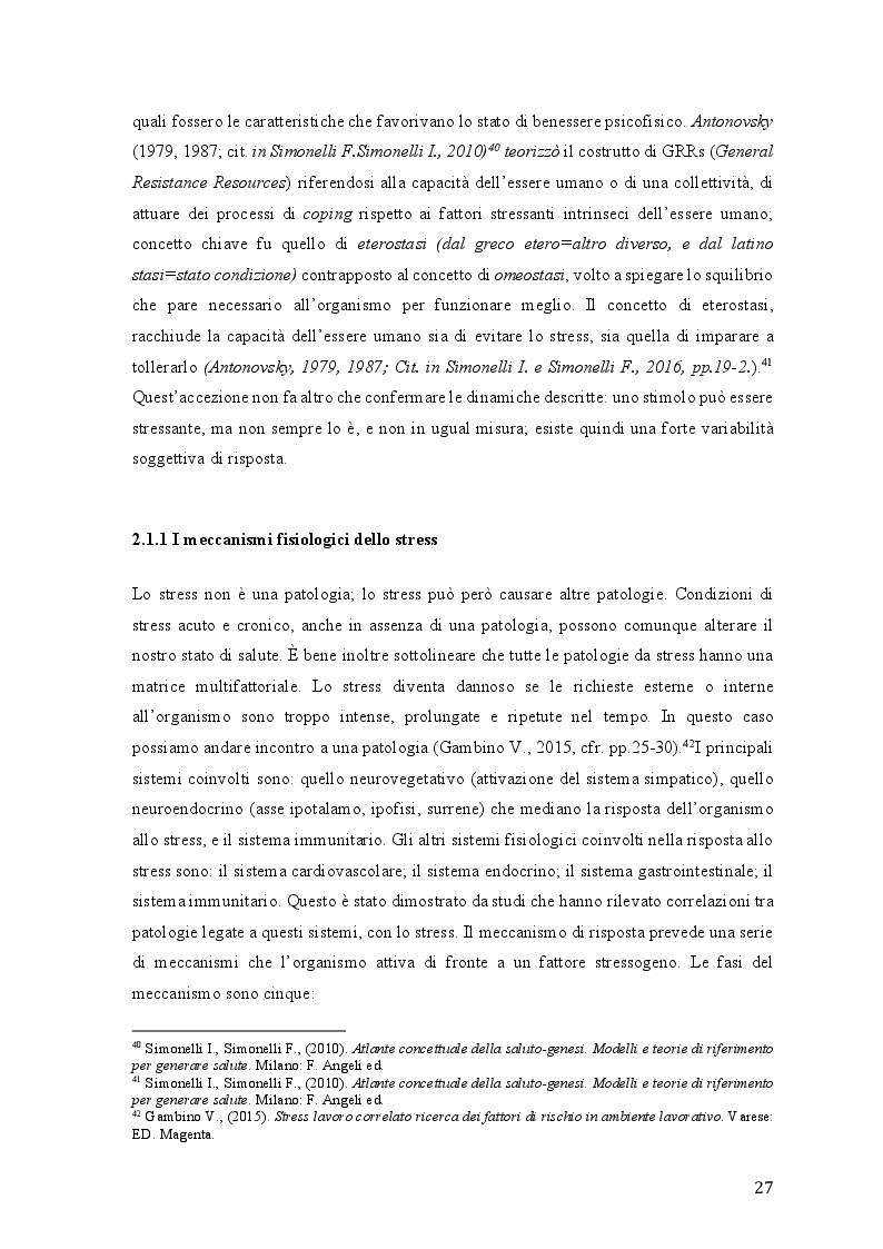 Anteprima della tesi: Lo stress lavoro correlato e rischi psicosociali emergenti, Pagina 5