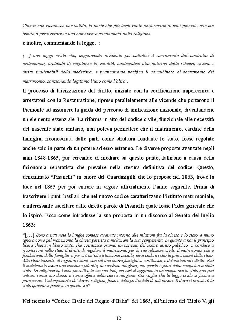 Estratto dalla tesi: Profilo storico del matrimonio concordatario: dai Patti Lateranensi agli Accordi di Villa Madama