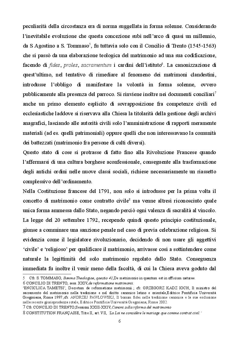 Anteprima della tesi: Profilo storico del matrimonio concordatario: dai Patti Lateranensi agli Accordi di Villa Madama, Pagina 6