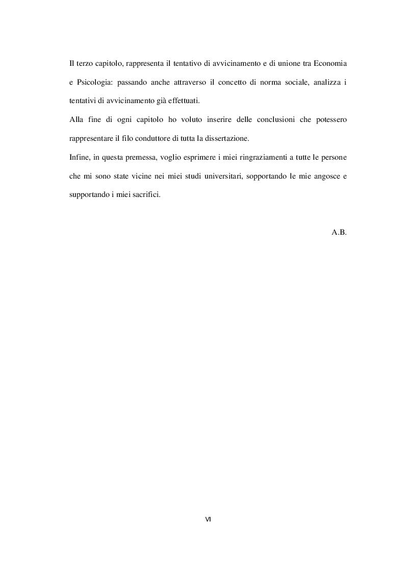 Anteprima della tesi: Economia, Etica e Psicologia: Comportamento Economico E Motivazionale Delle Scelte Del Consumatore, Pagina 3