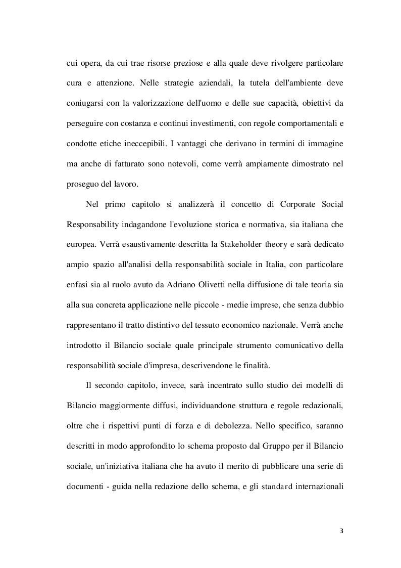 Anteprima della tesi: La Corporate social responsability e il ruolo del bilancio sociale, Pagina 3