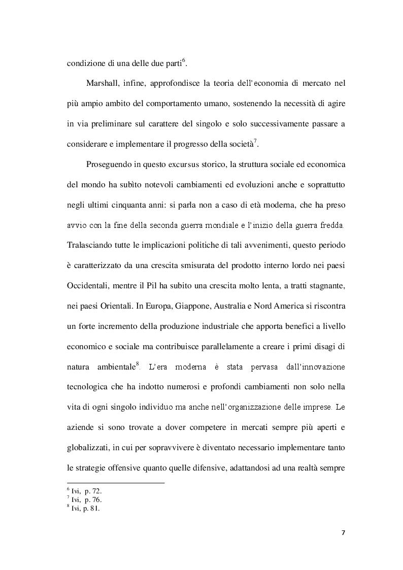 Anteprima della tesi: La Corporate social responsability e il ruolo del bilancio sociale, Pagina 7