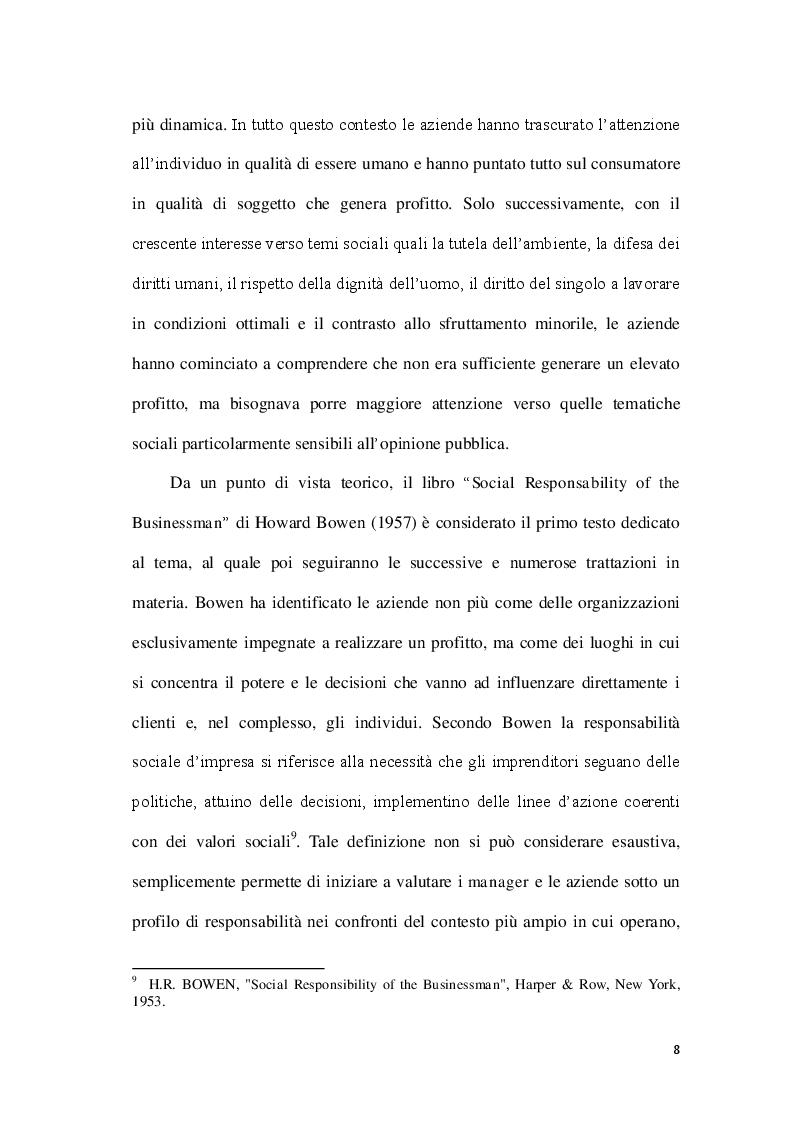 Anteprima della tesi: La Corporate social responsability e il ruolo del bilancio sociale, Pagina 8