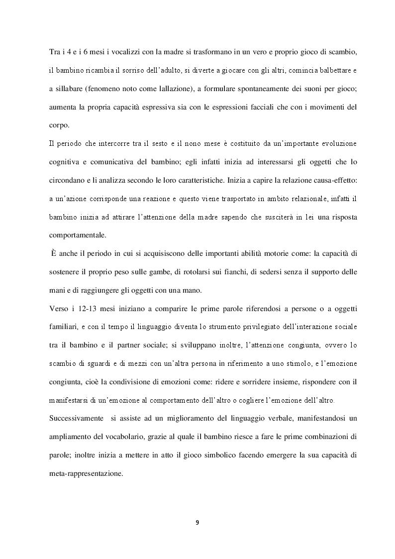 Anteprima della tesi: Autismo: difficoltà socio-comunicative e metodi di riabilitazione, Pagina 6