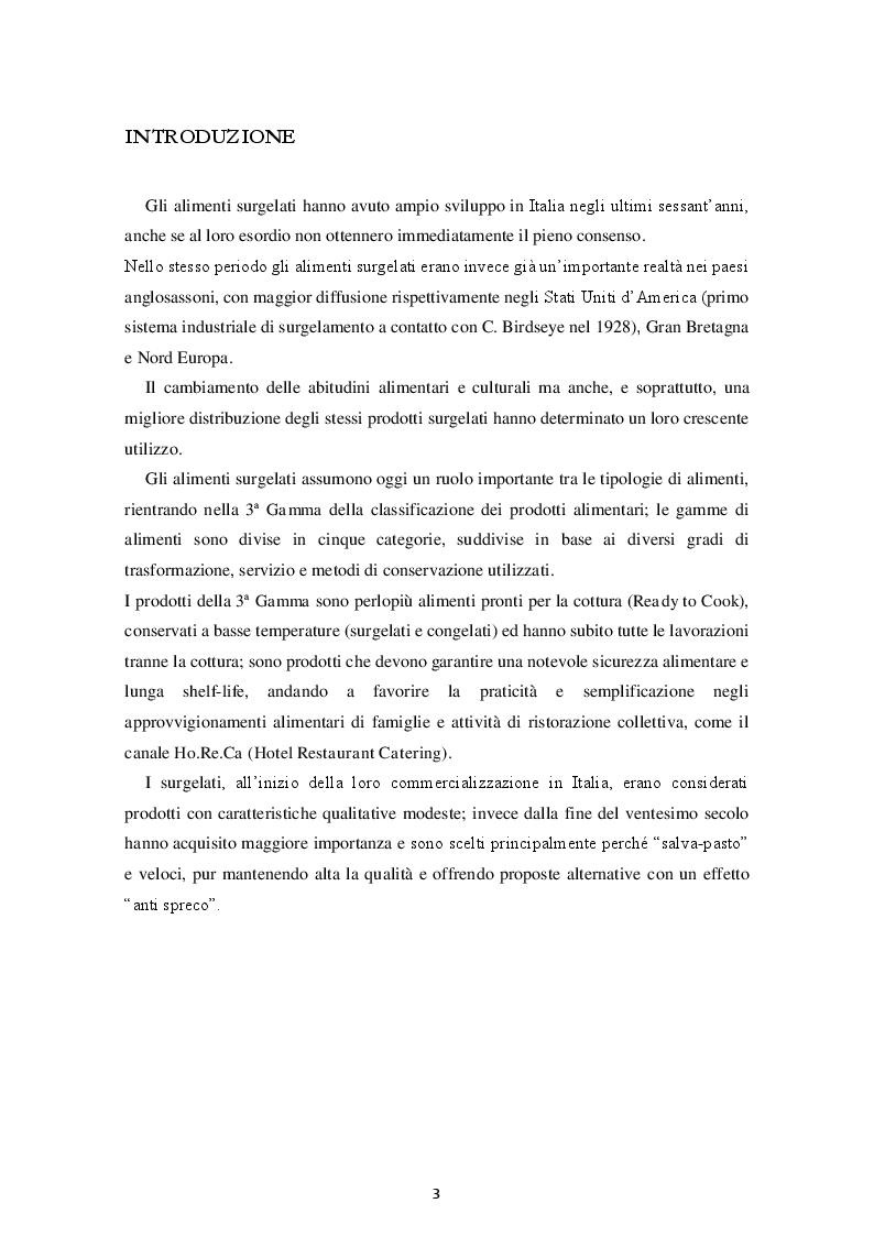 Anteprima della tesi: Prodotti Gastronomici Surgelati, Pagina 2